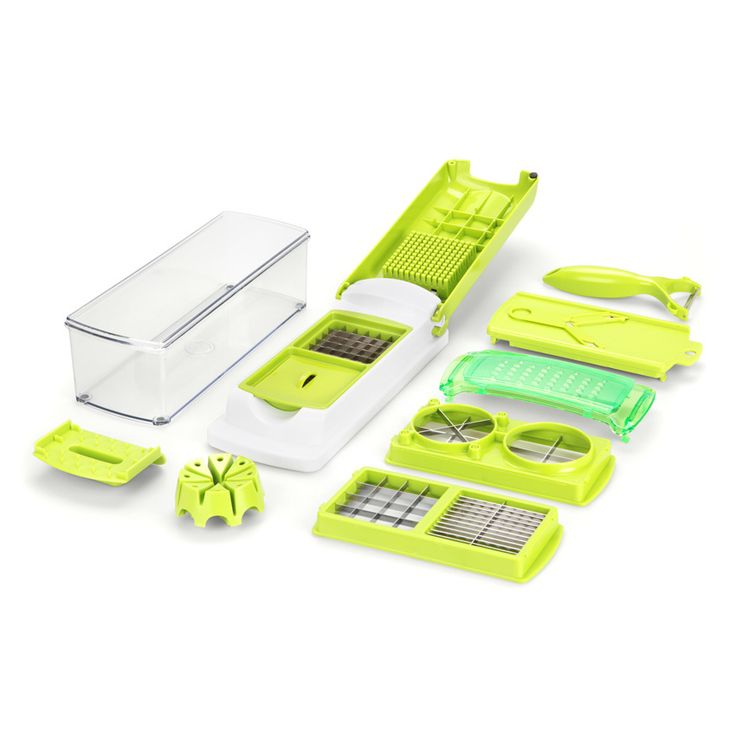 Product Description of ASOTV Nicer Multi Slicer Dicer Plus What s in the Box: 1 x ASOTV Nicer Multi Slicer Dicer 3 x Dual blades of different sizes 1 x Cutting …
