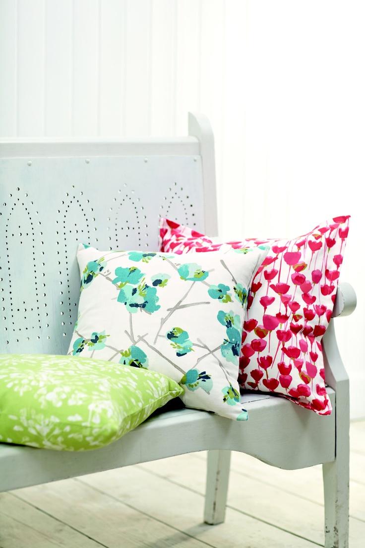Romo fabrics! Such cheerful colours!   www.helenstubbsinteriors.co.uk