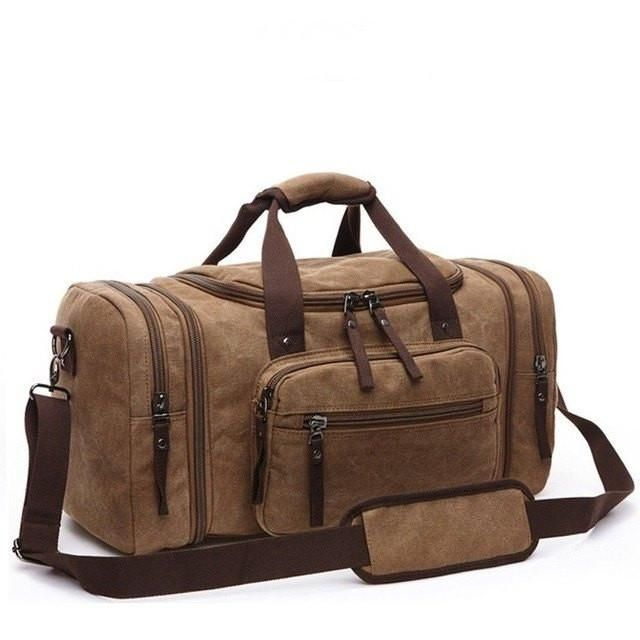 Vintage Canvas Men Travel Bag; Weekend Outdoor Sport Bag; Luggage Duffel Bag; Large Capacity Gym Bag | $64.88   #purplerelic #bags #duffles #MensBags