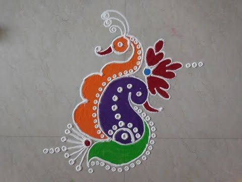 Diwali Special - Freehand Rangoli Design - YouTube