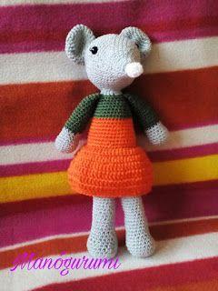 Ella, a halloween egér - Halloween pumpkins dressed in mouse - crochet amigurumi toy - crochet amigurumi mouse