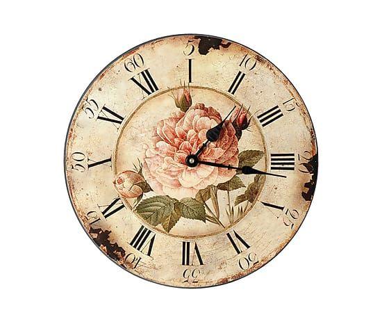 Декоративные настенные часы - дерево - Ø33