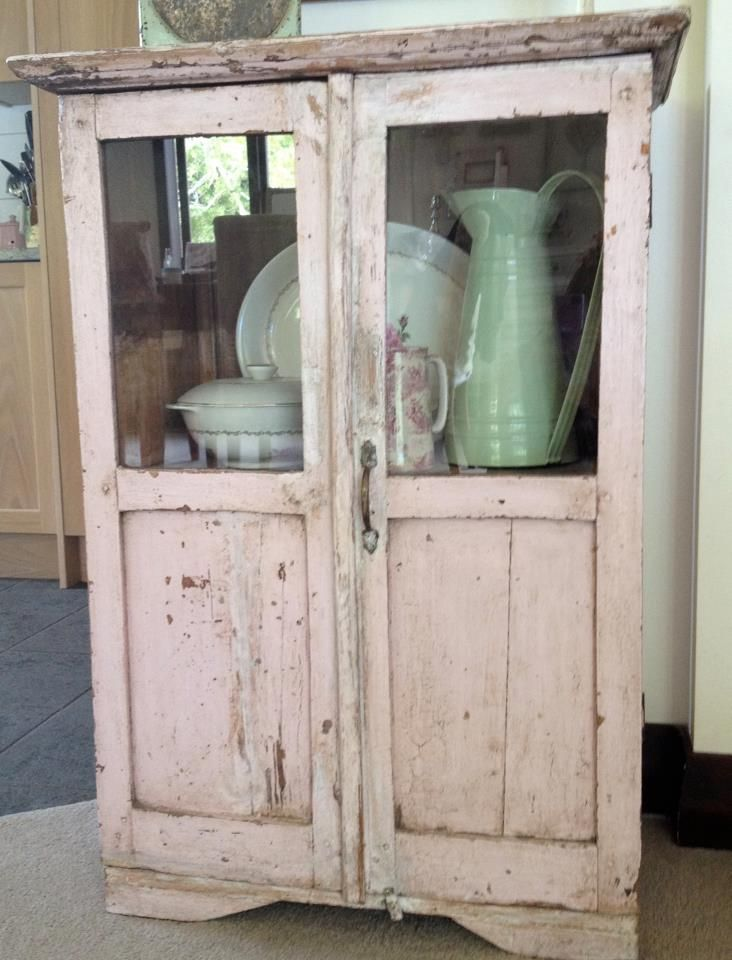 Vintage pale pink cabinet...The French Shed  Shabby Chic  Pinterest  Furni...