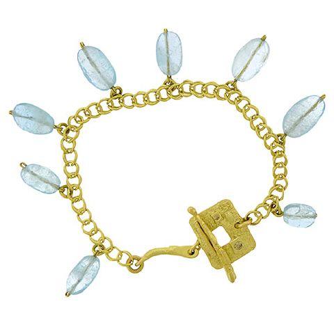 Marco Borghesi: Aquamarine Charm Bracelet