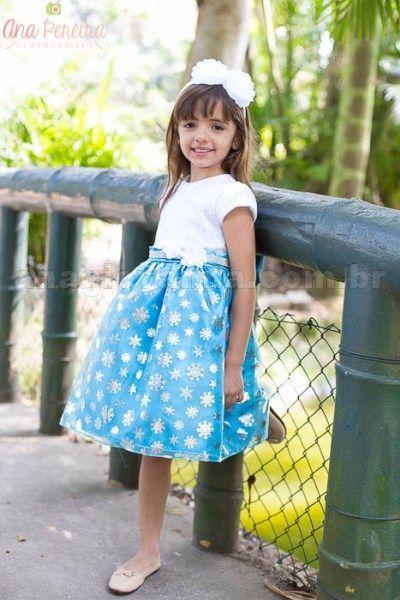 Vestido infantil de festa no tema Frozen! Lindo!    Clique na foto para saber mais!    Foto/marca: loja virtual Ana Giovanna