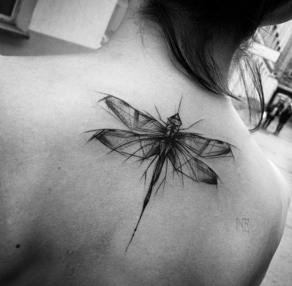 A+beleza+de+tatuagens+em+estilo+rascunho+ +Tinta+na+Pele