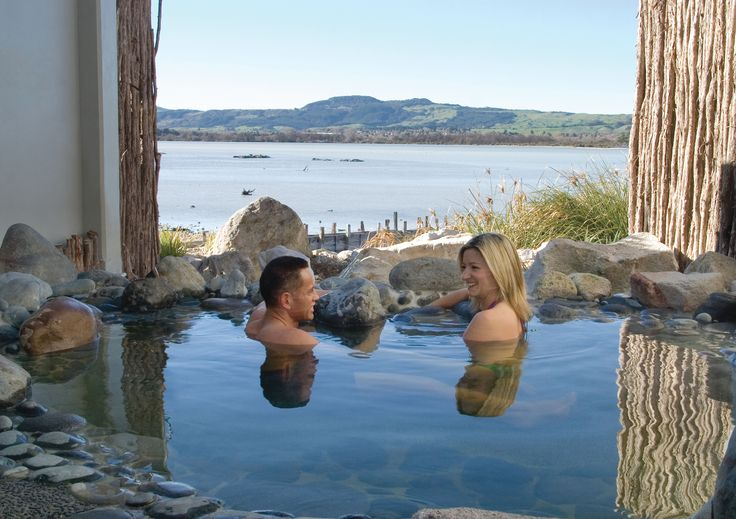For ultimate privacy, Polynesian Spa's Deluxe Private Pools are a great option to enjoy the natural hot mineral water while overlooking Lake Rotorua