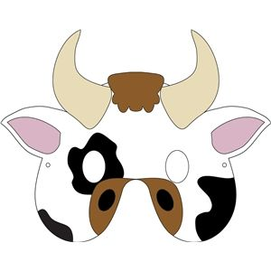 The 25 best cow mask ideas on pinterest cow craft printable cow mask pronofoot35fo Gallery