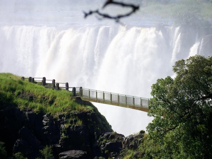Knife Edge Bridge Victoriafalls Livingstone Zambia