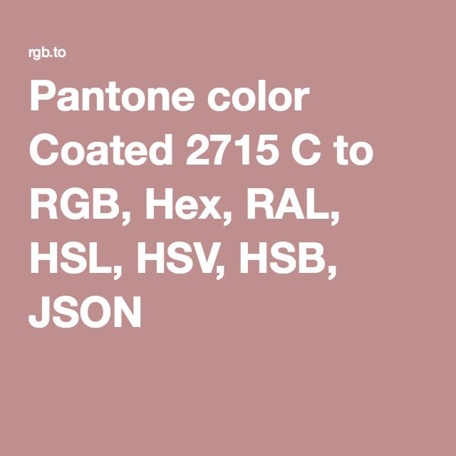 pantone color coated 2715 c to rgb hex ral hsl hsv