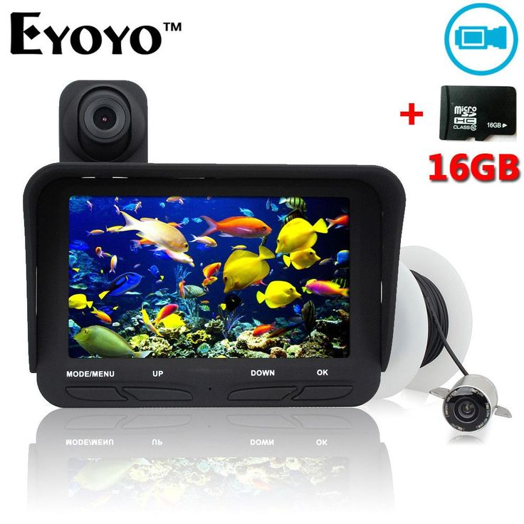 Eyoyo 20m Professional Fish Finder DVR Video Record 6 Infrared LED Underwater Fishing Camera+Overwater Camera+Free 16GB TF Card