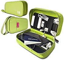 Travel Cord Organizer - Electronics Accessories Case & Cable Organizer - Electronics Travel Organizer (Hand Green)