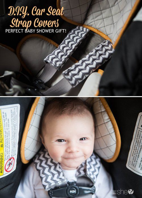DIY and Crafts.  D.I.Y Car Seat Strap Covers – Perfect Baby Shower Gift!