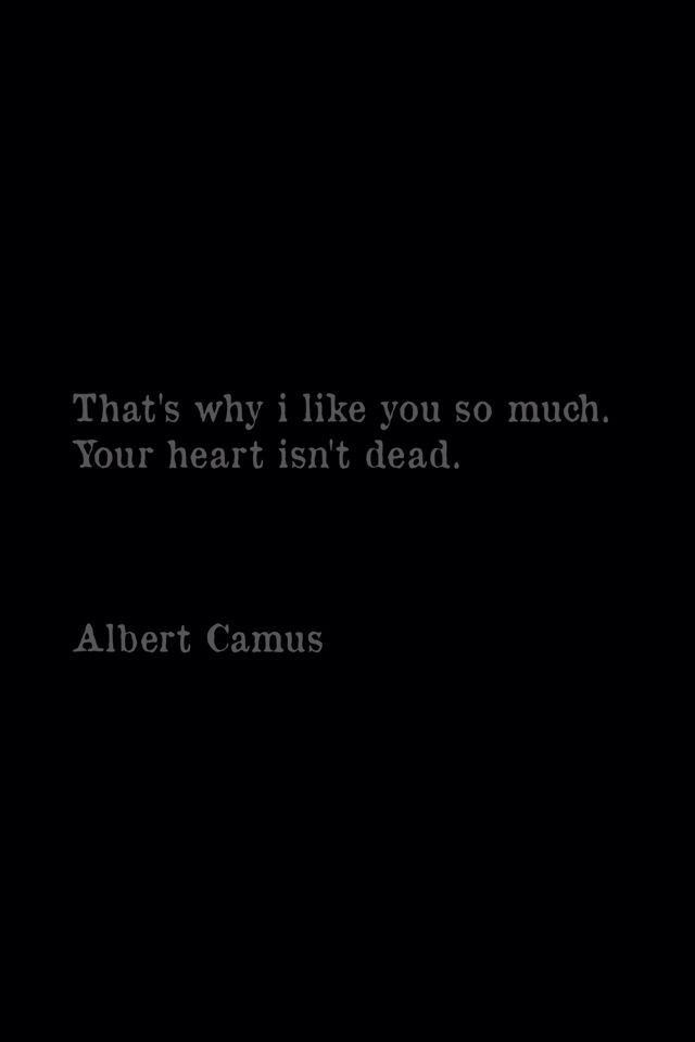 """That's why i like you so much"" -Albert Camus"
