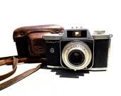 Vintage Graflex Camera, Vintage Camera with Leather Case, Mid Century CameraLeather Case