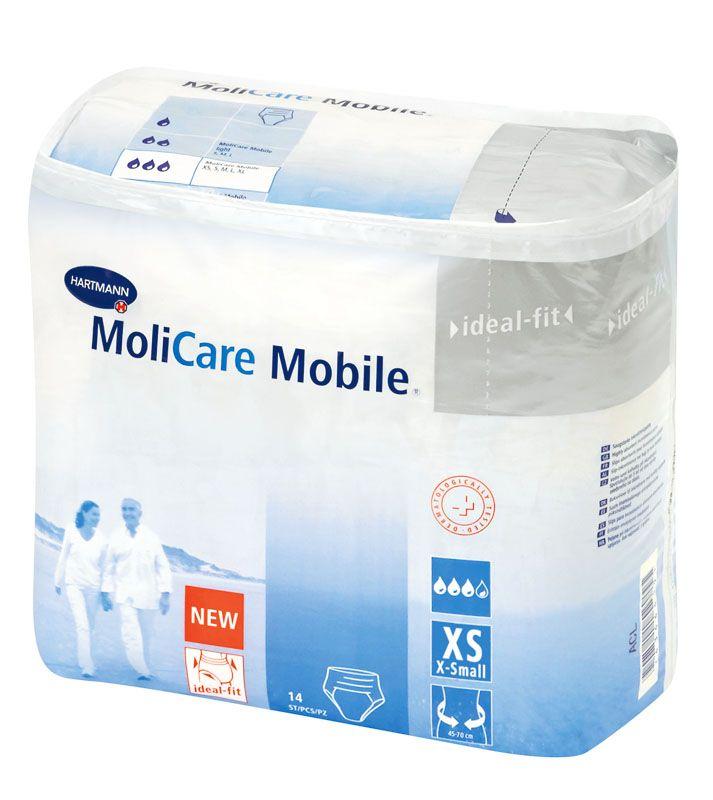 MoliCare® Mobile Inkontinenz-Windelhose ist sehr einfach in der Anwendung. Man steigt ähnlich wie bei Unterwäsche einfach in die Windel von oben hinein. Hoher Tragekomfort bei bei mittlerer bis schwerer Harn- und Stuhlinkontinenz. Durch die einfache Handhabung ist sie vor allem für mobile und aktive Menschen geeignet. Die Windelhose kann aber auch bei unruhigen, beispielsweise dementen, Personen Anwendung finden.