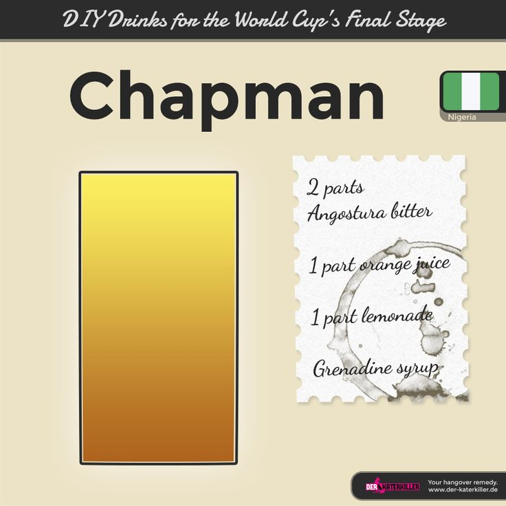 Welcome to the party, Nigeria! Hope you enjoy your well-deserved World Cup finals spot with some chapmans!