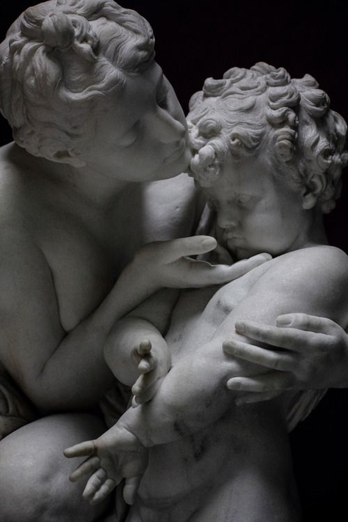 Marble Sculpture | Mother and Child | German Origin | Reinhold Begas | The Alte Nationalgalerie | Completely beautiful.