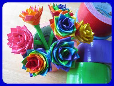 Duck Tap Flowers.  DIY