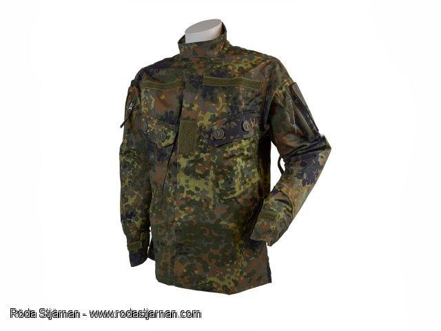 Fältuniformer: TACGEAR Commando Fältjacka Flecktarn