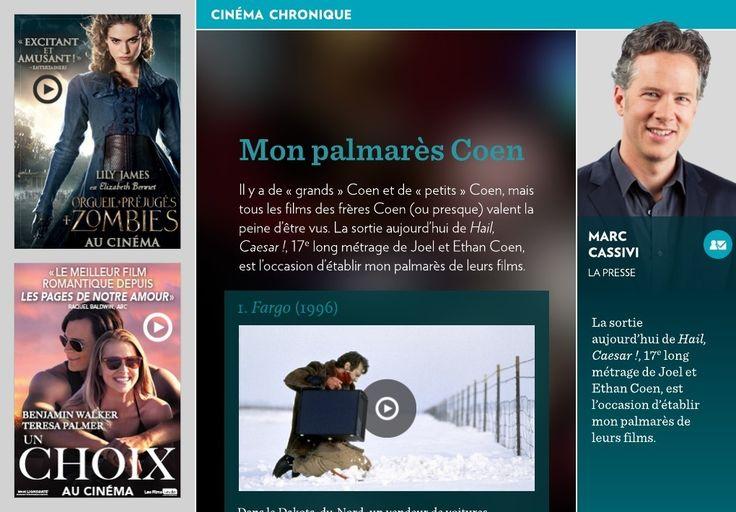 Mon palmarès Coen - La Presse+