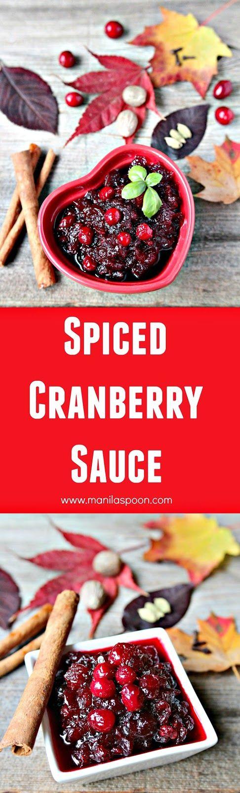 with nutmeg, cardamom, cloves and cinnamon this Spiced Cranberry Sauce ...