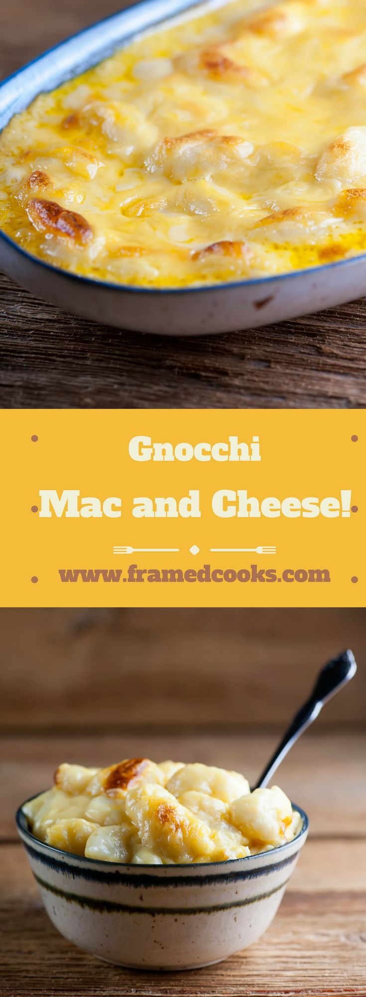 Welcome to the pinnacle of comfort food deliciousness, which is this recipe for gnocchi macaroni and cheese.  The perfect cheer you up supper!
