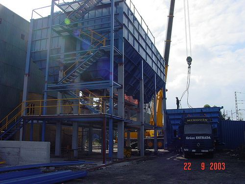 Edificio Dosificacion - Montaje 1  boilermaking, steel tanks, steel structures
