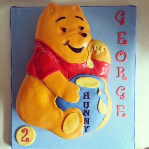 Winne the Pooh cake for 2nd Birthday
