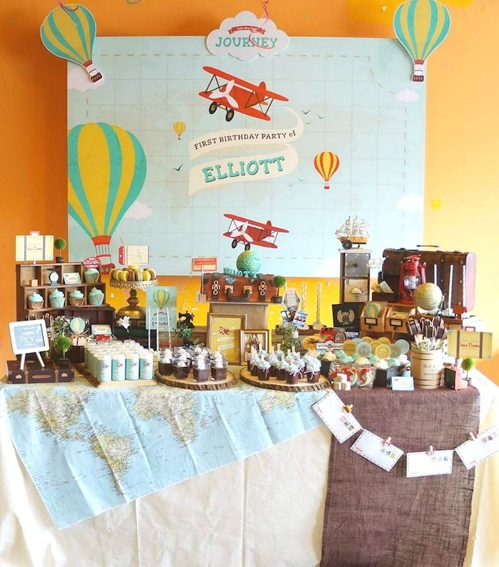 Vintage Travel Themed Birthday Party via Kara's Party Ideas KarasPartyIdeas.com (14)