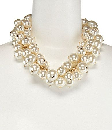 Anna and Ava Cora Collar Necklace #Dillards I am not just attracted to gaudy, but this would look beautiful with a crew neck or low v.