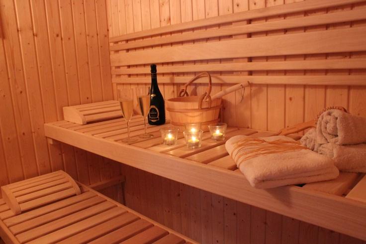 Sauna NATURHOUSE je vhodným místem k odpočinku.