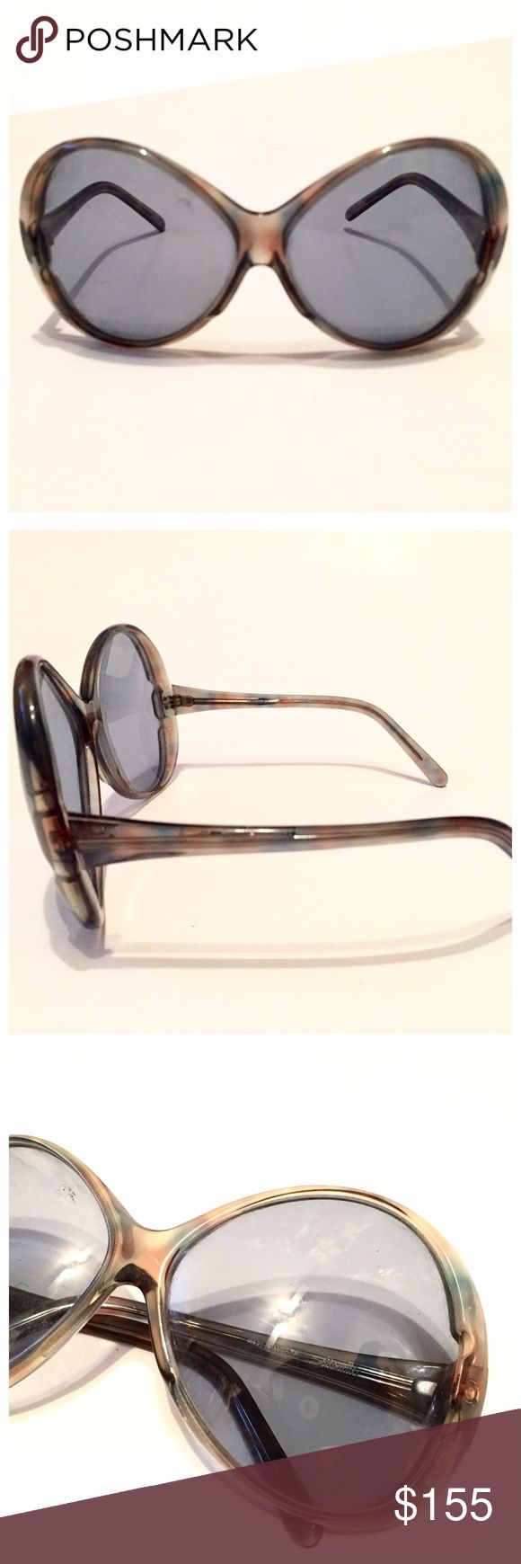 """Vintage Silouhette Sunglasses, Big Haute Shades ;) Another amazing pair of Silouhette Sunglasses for you. If you can't tell, they are one of my favorite vintage optical brands. Such good quality and their glasses are spot on fashionable rock stars! This pair is no exception. Overall great condition, no flaws to note. Measurements: 6"""" side to side and 2.75"""" top to bottom. Def good for going out incognito. Silhouette  Accessories Sunglasses"""