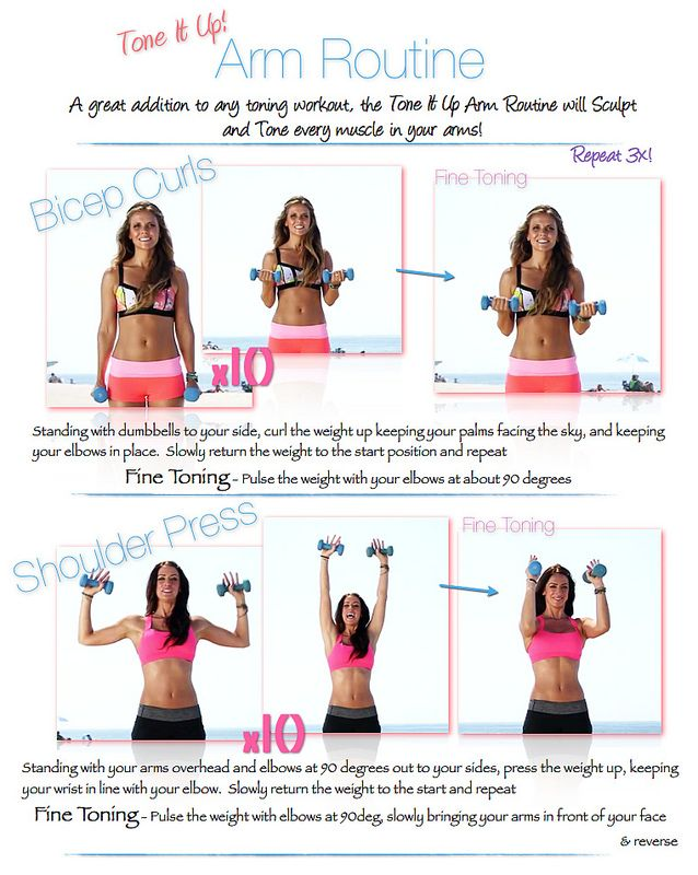 Tone It Up! Blog - Tone It Up! Fine Toning Arms Routine
