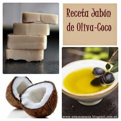Una Casa Sana: {Recetas Jabones} 2: Jabón de Oliva-Coco (80%-20%)...
