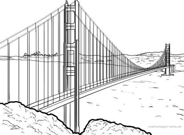 Malvorlage Golden Gate Bridge   Malvorlagen, Kostenlose ...