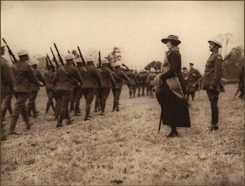 Princess Patricia Canadian Light Infantry Marching Past Princess Patricia, [ca. 1918]