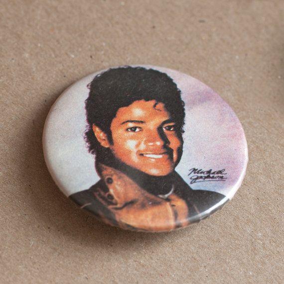Michael Jackson, vintage pinback button, king of pop, rare, moonwalk, dance, Wacko Jacko, Jackson 5, pop music, memorabilia, on Etsy, $10.00