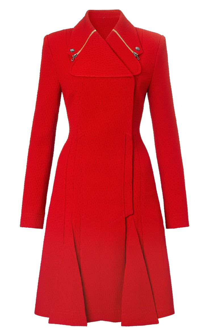 Roland Mouret | Red Andrelina Coat | Lyst