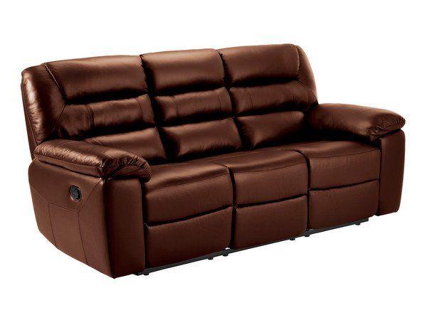Tan Leather Sofas 3 Seater Manual Recliner Sofa Devon Range