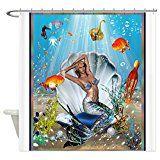 CafePress  Best Seller Merrow Mermaid Shower Curtain  Decorative Fabric Shower Curtain
