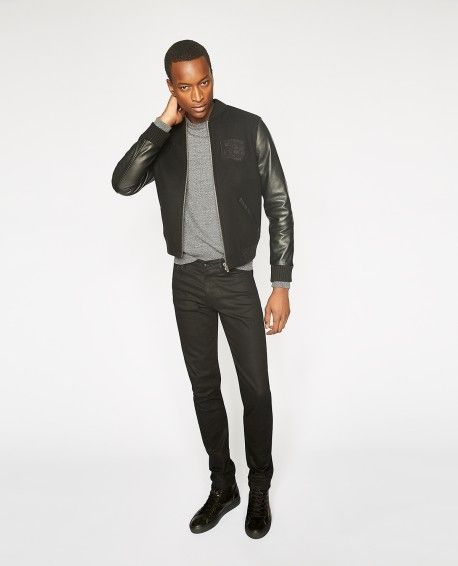 fa7db8e10b Black teddy jacket with badges - Collection THE KOOPLES SPORT | The ...
