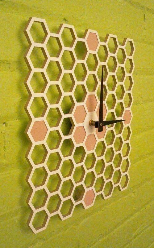 Honeycomb Modern Wall clock