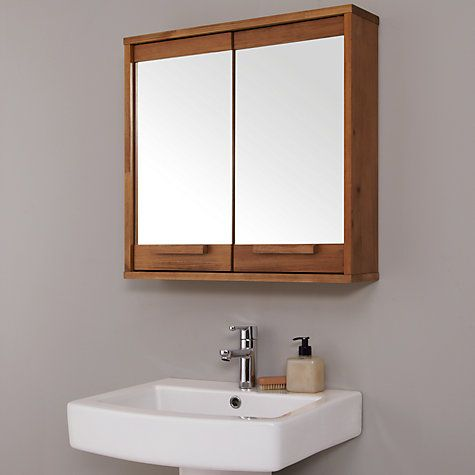 buy john lewis cayman double mirrored bathroom cabinet online at johnlewis com