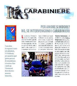 Isernia tentato suicidio: il salvataggio dei Carabinieri sulla rivista Il Carabiniere
