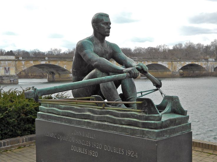 "Kelly Drive (Formerly known as East River Drive) - A road that winds for 4 miles along the Schuylkill River to the neighborhood of East Falls.  it was renamed ""Kelly Drive"" in the 1980s to honor John B. Kelly, Jr., a Philadelphia City Councilman, Olympic rower, and the brother of Grace Kelly.  Alongside Kelly Drive, a statue of Kelly's father, Olympic rower John B. Kelly, Sr., has been placed at the grandstand near the national racecourse finish line."