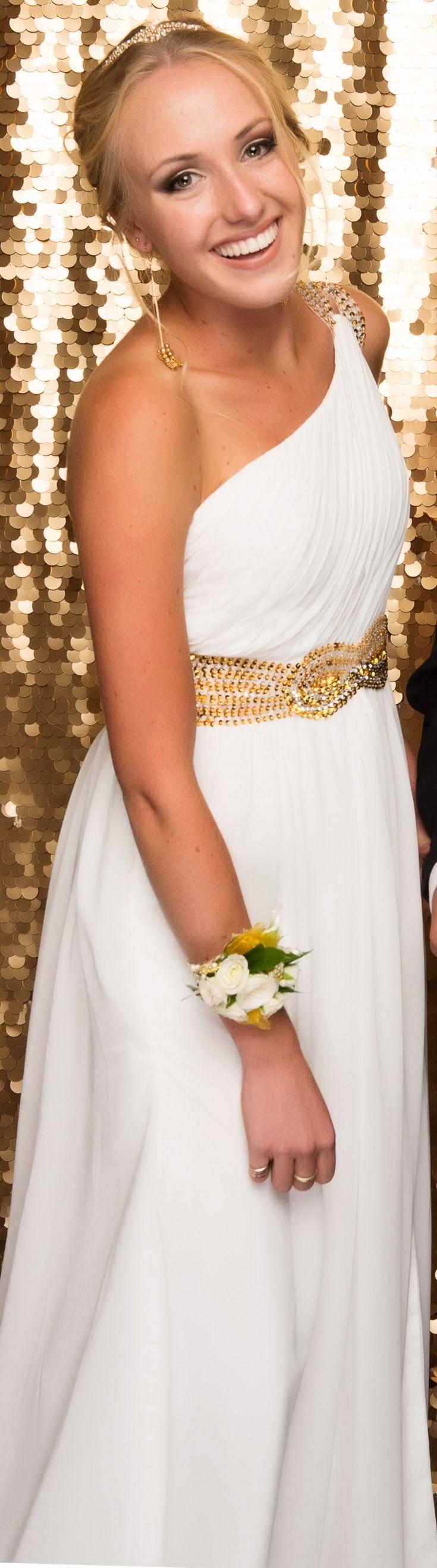 Kingsway Ball 2015. Gorgeous Grecian inspired look! www.whitedoor.co.nz