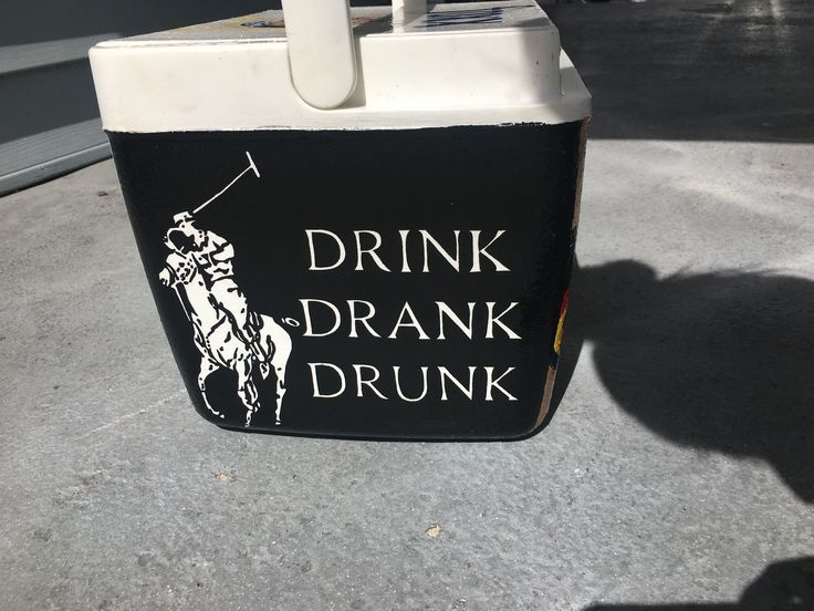 Drink drank drunk Ralph Lauren polo horse logo painted fraternity cooler