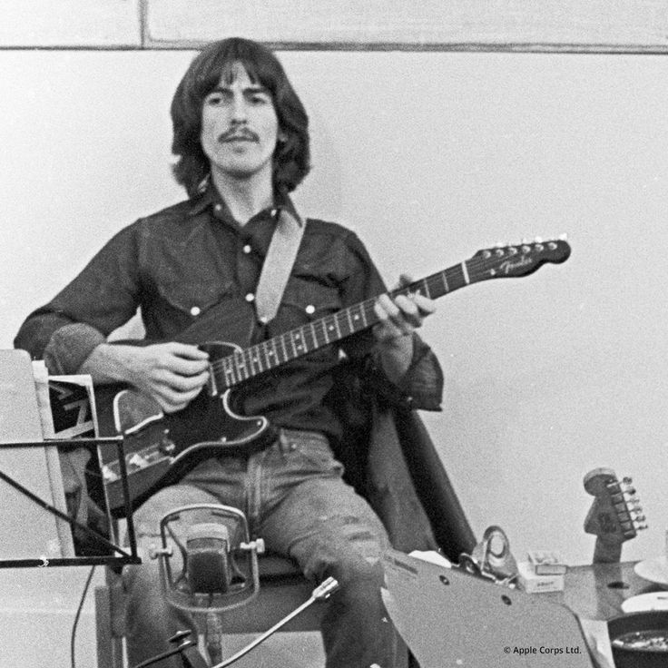 Happy birthday to George Harrison, one of the most influential guitarists in history!    Name your favorite George Harrison song.  : Courtesy of Apple Corps.