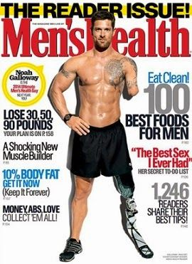 Pela primeira vez, homem com deficiência física estampará capa da revista Men's Health - PcD